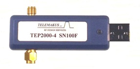 Telemakus TEP2000-4 Digital Phase Shifter spans 1-2GHz with 400deg typical phase shift