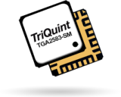 TriQuint TGA2583-SM 10W GaN amplifier targeted at S-band RADAR applications offers 33dB of gain and >50% PAE from 2.7 to 3.7GHz.