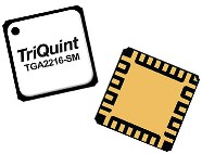 TriQuint's TGA2216-SM GaN, cascode amplifier operating from 0.1 - 3GHz