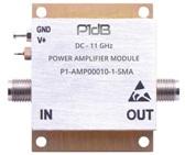 P1dB's P1-AMP00010-1-SMA DC-10GHz 1W Amplifier Module