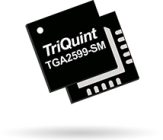 The TriQuint TGA2599-SM offers 2W of output power with >23dB of small signal gain.