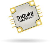 TriQuint's TGA2622-CP 35W, X-band GaN Power Amp offers PAE of >43%. 28V, 290mA