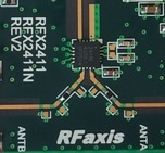 RFaxis RFX2411N fully integrated, single-chip, single-die RFeIC for ZigBee/smart energy applications.