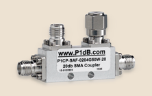 S-band Directional Couplers Handle 50W. 10, 20 and 30dB coupling