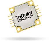 Qorvo's TGA2214-CP, 2-18GHz GaN amp provides 4W of saturated output power