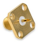 Delta Electronics Manufacturing 1313000G051-000 18 GHz SMA female, four-hole, flange mount connector with solder cup.
