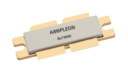 The Ampleon BLF888E operates from 470 to 790 MHz serving broadcast applications with 150W average power.