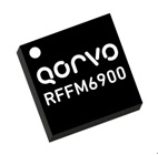 The Qorvo RFFM6900 covers the 900MHz ISM band (890 to 960MHz) with up to 1W of transmit power.