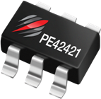 Peregrine Semiconductor's PE42421 SPDT switch operates from 10MHz to 3GHz with insertion loss as low as 0.35dB and isolation as high as 30dB between ports.