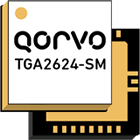 Qorvo's TGA2624-SM, 9 – 10GHz, 20 watt, GaN amplifier