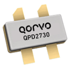 Qorvo QPD2730 Doherty GaN transistor with 53.7dBm P3dB Doherty output RFMW Ltd