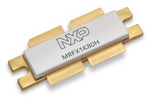 NXP MRFX1K80H transistor with 1800 watts of CW output power in the 1.8 to 470MHz range utilizing a 65V supply