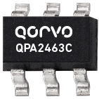 Qorvo QPA2463C 50 to 4000MHz active bias HBT amplifier with 3V operation