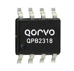 Qorvo's QPB2318 Balanced Return Path Amplifier spans 5 to 210MHz with dual, 15dB amplifiers