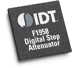 The IDT F1958 features 31.75dB of Glitch-free control range in 0.25dB steps from 1 to 6000MHz