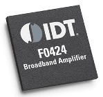 IDT F0424 Wide Band Silicon LNA offers 17.3 dB Flat Gain from 600MHz to 4200MHz