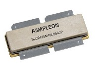 Ampleon BLC2425M10LS500P, 32 V LDMOS power transistor with 500 W for pulsed and CW applications 2400 to 2500 MHz.