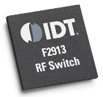 The IDT F2913 SPDT switch features up to 71 dB of isolation while maintaining low insertion loss of <0.8 dB from 50 to 6000 MHz