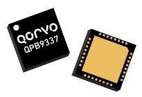 Qorvo's QPB9337 Dual-Channel Switch LNA Module supports applications across the 2.3 – 3.8 GHz frequency range.