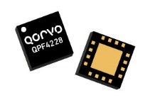 The Qorvo QPF4228 FEM integrates a 2.4 GHz PA, regulator, SP3T, LNA, coupler and power detector