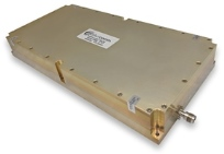 Aethercomm model number SSPA 0.020-1.000-350 operates 20 to 1000 MHz with 100 to 200 Watts linear output power and typical saturated power levels of 300-400 watts