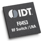 IDT's F0453B is an integrated, dual-path, RF switch/LNA with 34 dB gain and 1.35 dB noise figure from 3400 to 3800 MHz