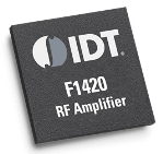 The IDT F1420 high gain / high linearity amplifier offers 42 dBm OIP3 with 23.2 dBm P1dB output power and 17.4 dB gain.