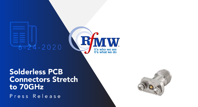 The Rosenberger 08K721-40MS3 solderless PCB connector provides excellent return loss to 70 GHz