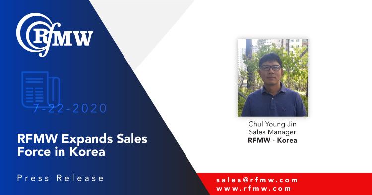 RFMW Announces Sales Force Expansion - Korea