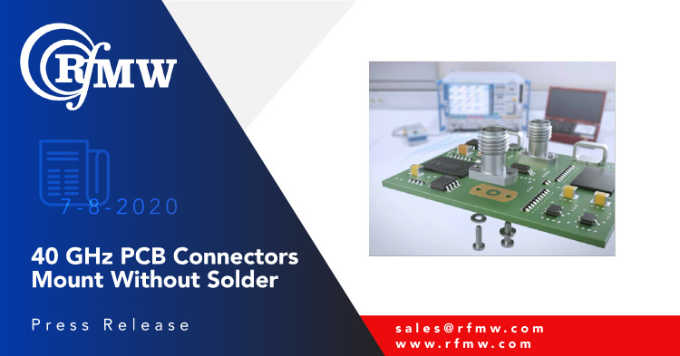 The Rosenberger 02K721-40MS3 solderless PCB connector provides excellent return loss to 40 GHz