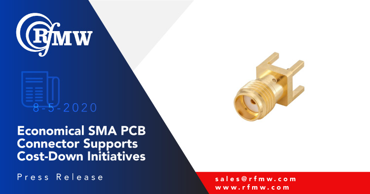 Rosenberger North America 32K153-400L5 SMA female connector offers through-hole ruggedness and reliability to 12.4 GHz