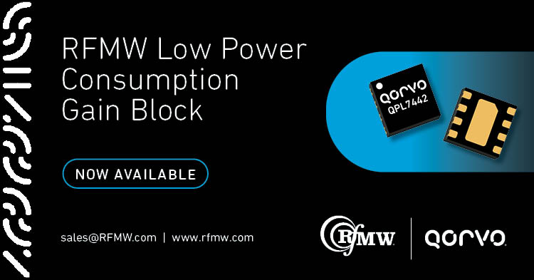 The Qorvo QPL7442 is a single-ended, 50 ohm, MMIC gain block spanning 50 to 4000 MHz