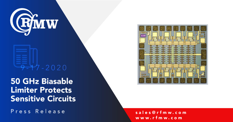 The Keysight HMMC-5644 diode limiter protects sensitive RF front ends from DC to 50 GHz with low distortion