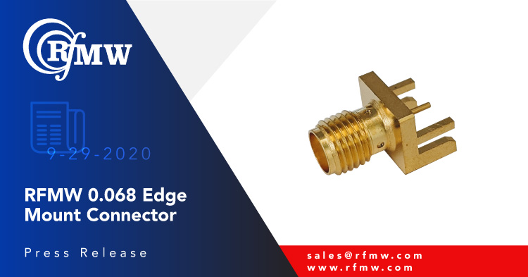 The P1dB P1CO-SAFE-P030-G068 is an edge mount, SMA female connector for 0.068 inch thick PCBs with verified performance to 18 GHz