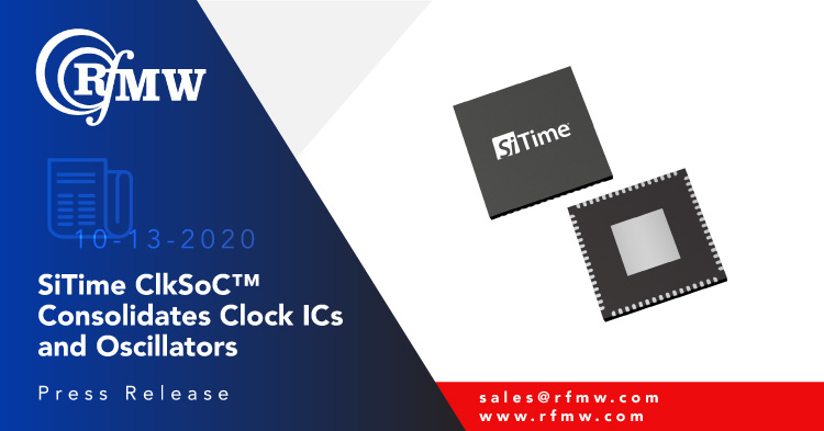 SiTime's Cascade family of MEMS clock ICs for 5G, wireline telecom and datacenter infrastructure