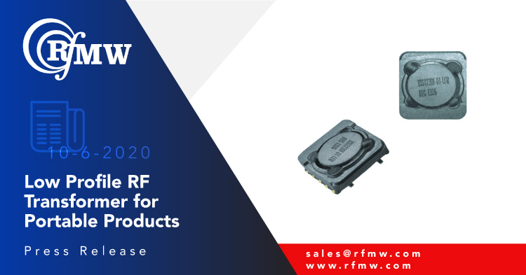 The Frontier Electronics TSS1230F-01 step-up switching transformer exhibits excellent output voltage capability, low input voltage and low profile construction (3 mm)