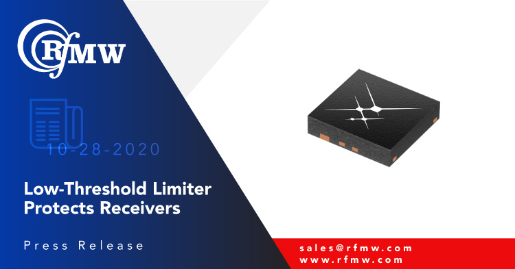The Skyworks SKY16603-632LF high linearity, low-threshold, dual PIN limiter diode module integrates diodes and DC blocking caps into a 0.6 to 6 GHz module