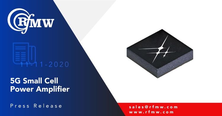 The Skyworks Solutions SKY66318-11 power amplifier operates from 3300 to 3600 MHz with 35 dB of gain