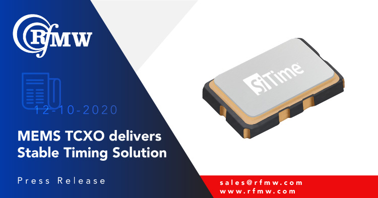 SiTime's SiT5358 series of MEMS Super-TCXOs deliver ±50 ppb stability performance and can be factory-programmed to any combination of frequency (from 1 to 60 MHz), voltage and pull range