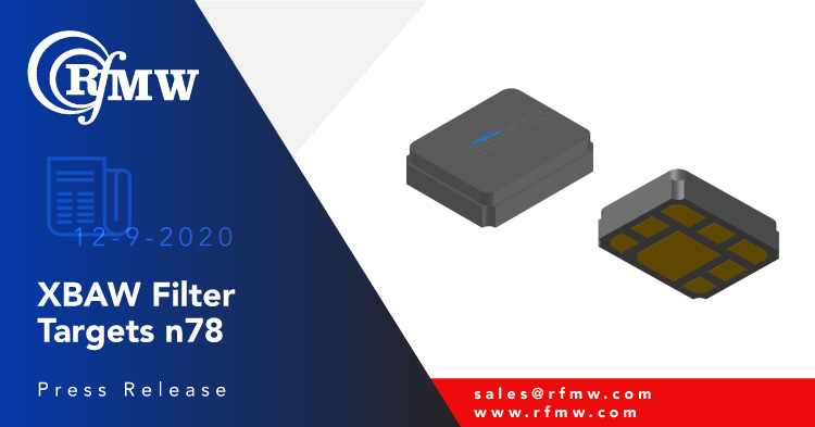 The Akoustis A10235 XBAW™ filter offers a small form factor and low pass band insertion loss for 5G, n78 band (3500 MHz) RF filtering applications.