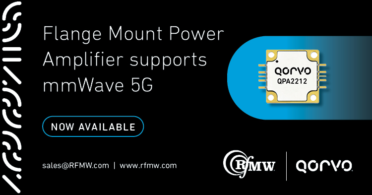 with 10 Watts of linear power, the QPA2212 operates from 27.5 to 31 GHz with 22 dB small signal gain