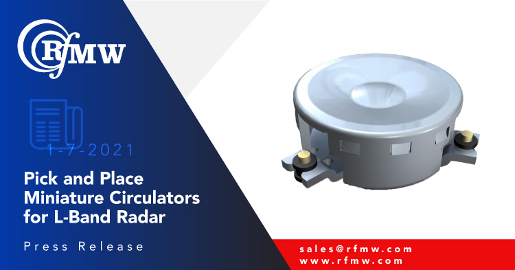 The SKYFR-001982 circulator delivers 200 Watt average and 400 Watt peak power handling for 1200 to 1400 MHz L-band radar systems and wireless applications