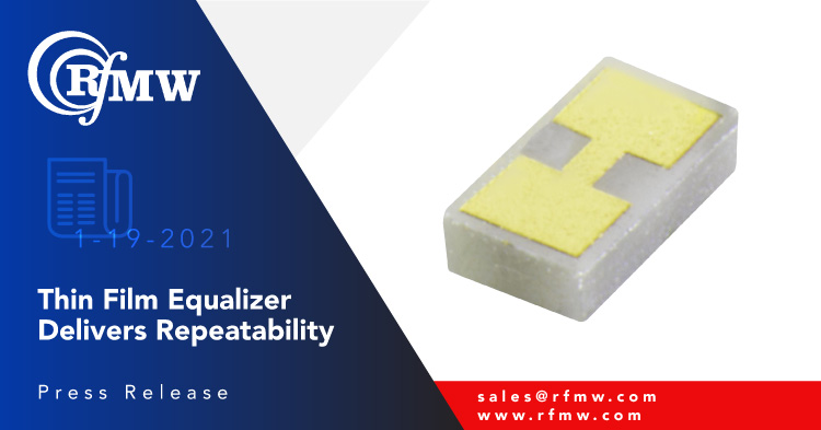 The Knowles – DLI AEQ05472 gain equalizer has a bandwidth from DC – 18 GHz with 3.5 dB slope
