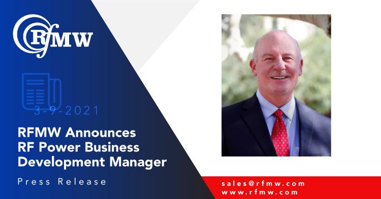 RFMW Announces RF Power Business Development Manager