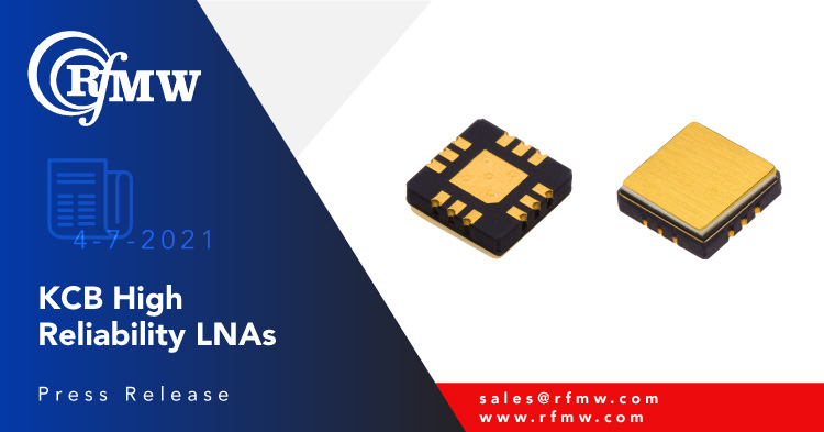 The KCB Solutions KA113 is a GaAs pHEMT broadband Low Noise Amplifier offering excellent gain, low noise and high linearity from .02 to 8.0 GHz