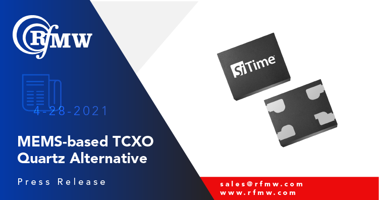 The SiTime SiT5008 TCXO series offers ±2 ppm stability and low-power consumption in a small industry-standard package
