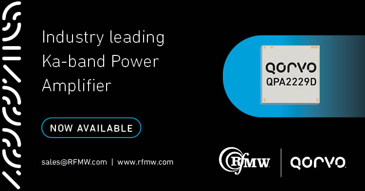 The Qorvo QPA2229D is a high power MMIC amplifier operating between 34 and 36 GHz