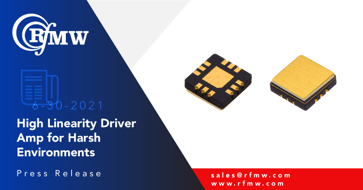 The KCB Solutions KA105 is a GaAs pHEMT broadband Driver Amplifier with high linearity usable down to 50 MHz and up to 3.8 GHz.