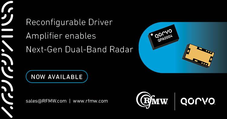 The Qorvo QPA0004 dual-band GaN MMIC power amplifier enables next generation S and X-band radar systems