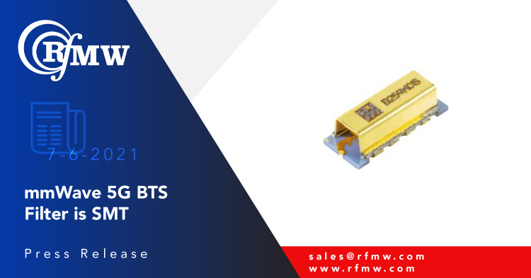 the Knowles (DLI) B259MC1S is a 24.25 to 27.5 GHz bandpass filter with a typical insertion loss of 2.9 dB